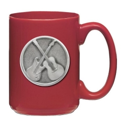 Guitar Red Coffee Cup