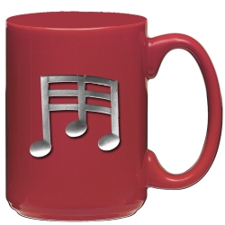 Musical Notes Red Coffee Cup