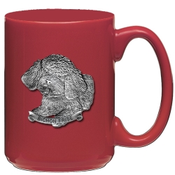Bichon Frise Red Coffee Cup