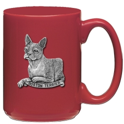 Boston Terrier Red Coffee Cup