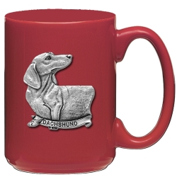 Dachshund Red Coffee Cup