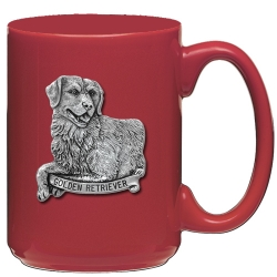 Golden Retriever Red Coffee Cup