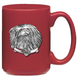 Pekingese Red Coffee Cup