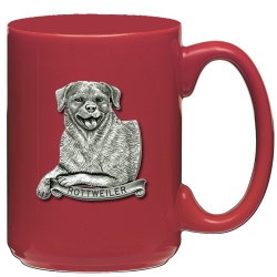 Rottweiler Red Coffee Cup