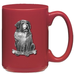 Saint Bernard Red Coffee Cup
