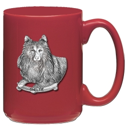 Shetland Sheepdog Red Coffee Cup