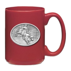 Bull Rider Red Coffee Cup