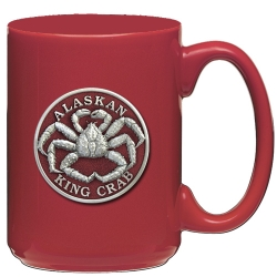 King Crab Red Coffee Cup - Enameled