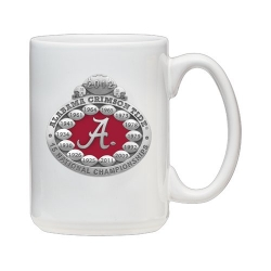 2012 BCS National Champions Alabama Crimson Tide White Coffee Cup - Enameled