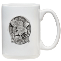 "Bald Eagle ""United We Stand"" White Coffee Cup"