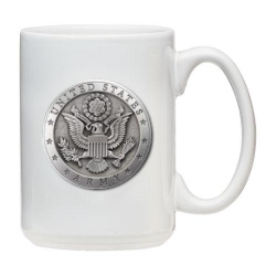 Army White Coffee Cup