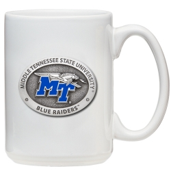 Kennesaw State University White Coffee Cup - Enameled