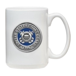 Coast Guard White Coffee Cup - Enameled