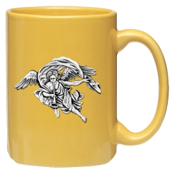 Trumpet Angel Yellow Coffee Cup