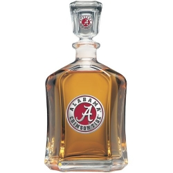 "Alabama ""A"" Crimson Tide Capitol Decanter - Enameled"
