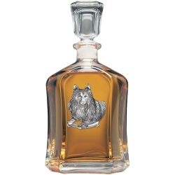 Shetland Sheepdog Capitol Decanter