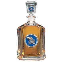 University of Kansas Capitol Decanter - Enameled
