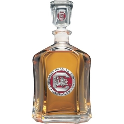 "University of South Carolina ""Gamecocks"" Capitol Decanter - Enameled"