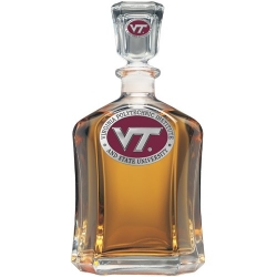 "Virginia Tech University ""VT"" Capitol Decanter - Enameled"
