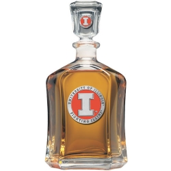 University of Illinois Capitol Decanter - Enameled