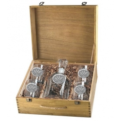 University of Virginia Capitol Decanter Set w/ Box