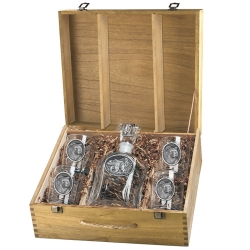 Grizzly Bear Capitol Decanter Set w/ Box