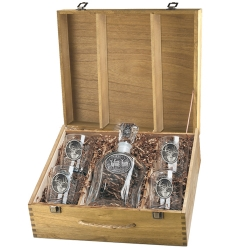 Whitetail Deer Capitol Decanter Set w/ Box