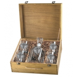Caduceus Capitol Decanter Set w/ Box