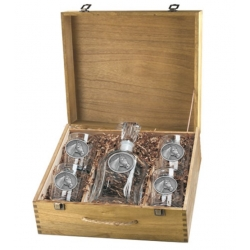 Racehorse Capitol Decanter Set w/ Box
