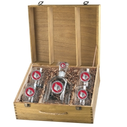 University of Louisville Capitol Decanter Set w/ Box - Enameled