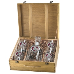 "Mississippi State University ""Bulldogs"" Capitol Decanter Set w/ Box - Enameled"