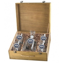 University of Nevada Capitol Decanter Set w/ Box - Enameled