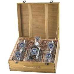 Coast Guard Capital Decanter Set w/ Box - Enameled