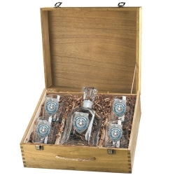 Law Enforcement Capitol Decanter Set w/ Box - Enameled