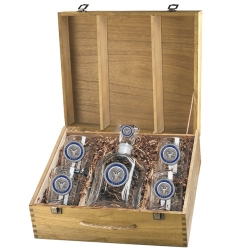 Navy Capitol Decanter Set w/ Box - Enameled