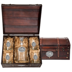 Buffalo Capitol Decanter Set w/ Chest
