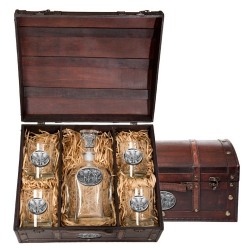 Elephant Capitol Decanter Set w/ Chest