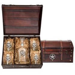 Lone Star Capitol Decanter Set w/ Chest