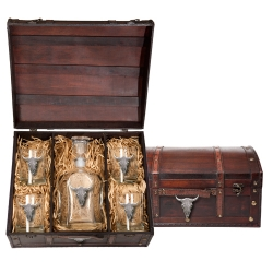 Longhorn Capitol Decanter Set w/ Chest