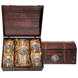 Train Capitol Decanter Set w/ Chest