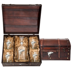 Shark Capitol Decanter Set w/ Chest