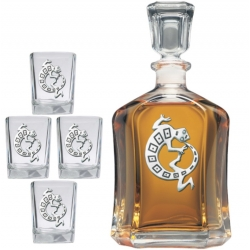 Lizard Capitol Decanter Set