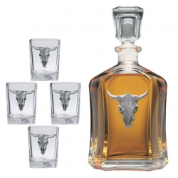 Longhorn Capitol Decanter Set