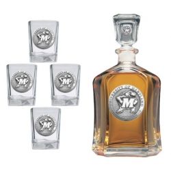 University of Maryland Capitol Decanter Set