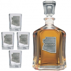 Arizona Capitol Decanter Set
