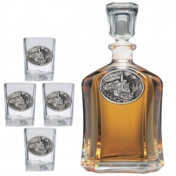 Train Capitol Decanter Set