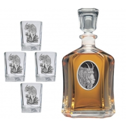 Mountain Goat Capitol Decanter Set