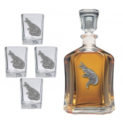 Alligator Capitol Decanter Set