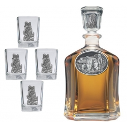 Black Bear Capitol Decanter Set