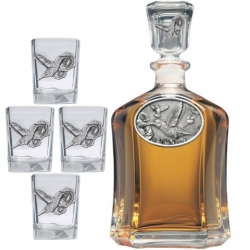 Hummingbird Capitol Decanter Set